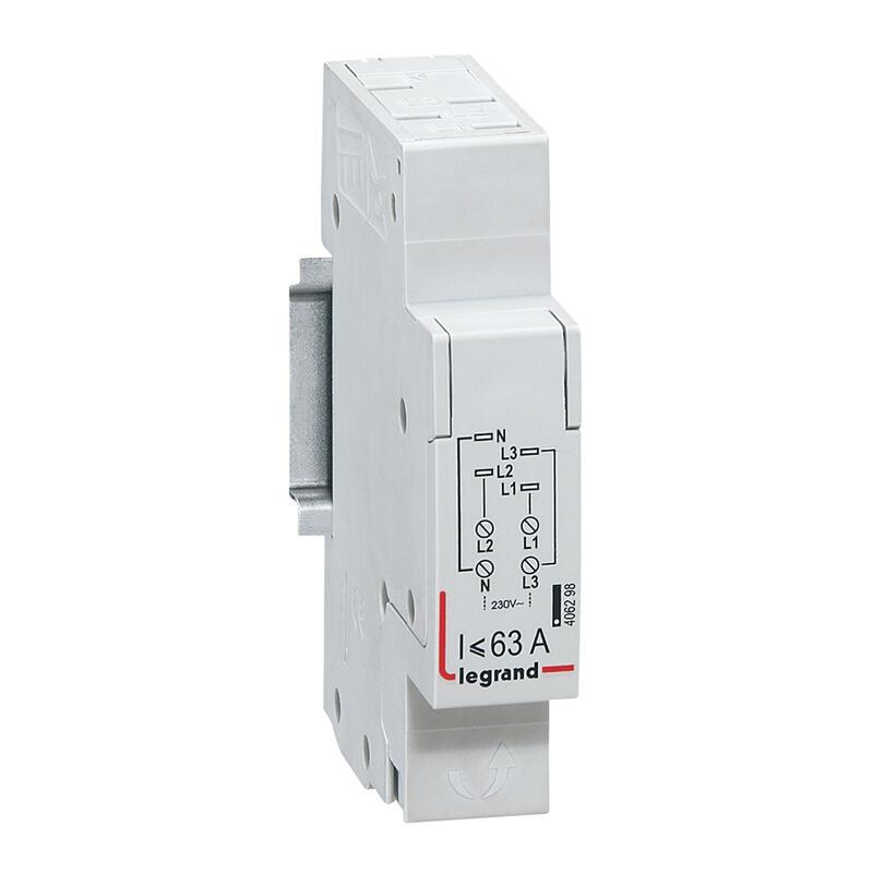 Module d'alimentation pour peigne tétrapolaire tête de groupe HX³ horizontal - section 6mm² à 16mm² - 1 module