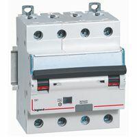 Disjoncteur différentiel monobloc DX³6000 10kA arrivée haute et départ bas à vis 4P 400V~ - 20A - typeF 30mA