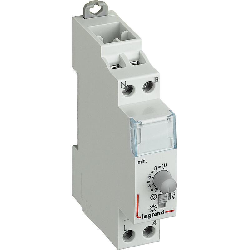 Minuterie modulaire 230V~ 50Hz et 60Hz - sortie 16A 250V~ - 1 module
