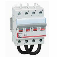 Interrupteur-sectionneur modulaire à manette courant continu 800V= pour application photovoltaïque - 32A - 4 modules