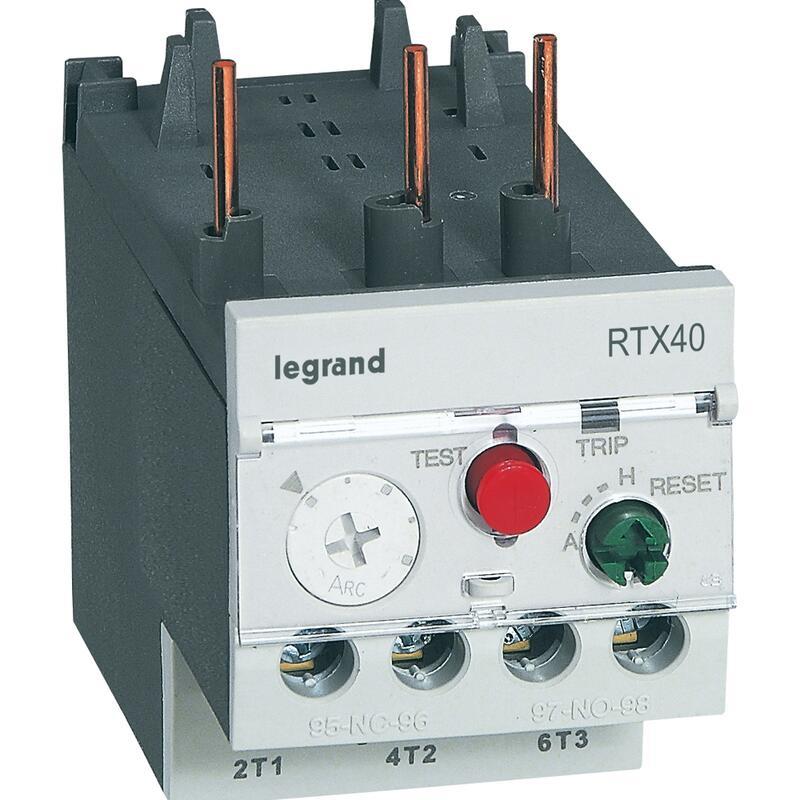 Relais thermique RTX³40 pour contacteurs CTX³22 et CTX³40 - contacts auxiliaires intégrés 1NO+1NF - 28A à 40A