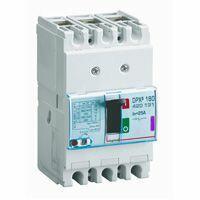 Disjoncteur magnétothermique DPX³160 pouvoir de coupure 50kA 400V~ - 4P - 25A
