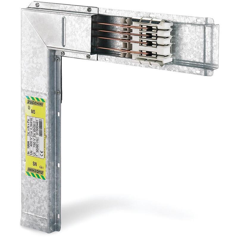 Coude vertical vers la droite pour mini canalisation MS100 - IP55