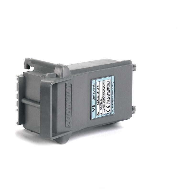 Boîte de dérivation avec déconnexion sur couvercle pour MS - avec porte-fusible pour fusible 14x51