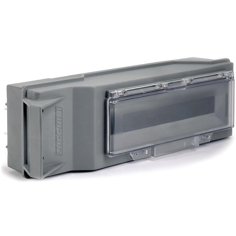 Boîte de dérivation avec déconnexion sur couvercle pour MS - avec fenêtre pivotante 16 modules