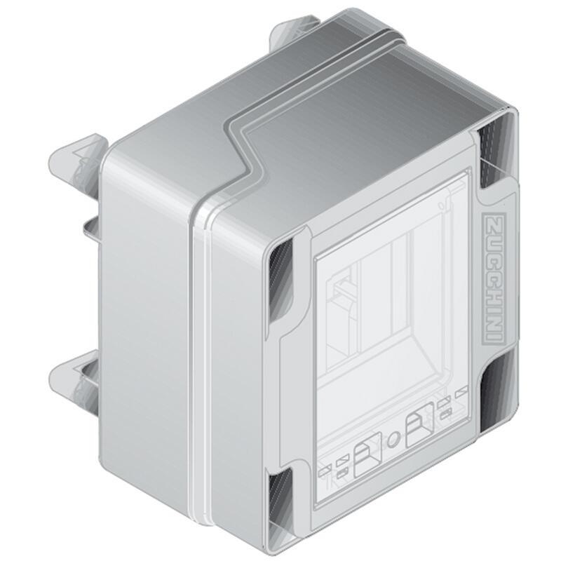 Boîte de dérivation pour mini canalisation MS - pour 4 modules rail DIN jonction de couvercle - 32A