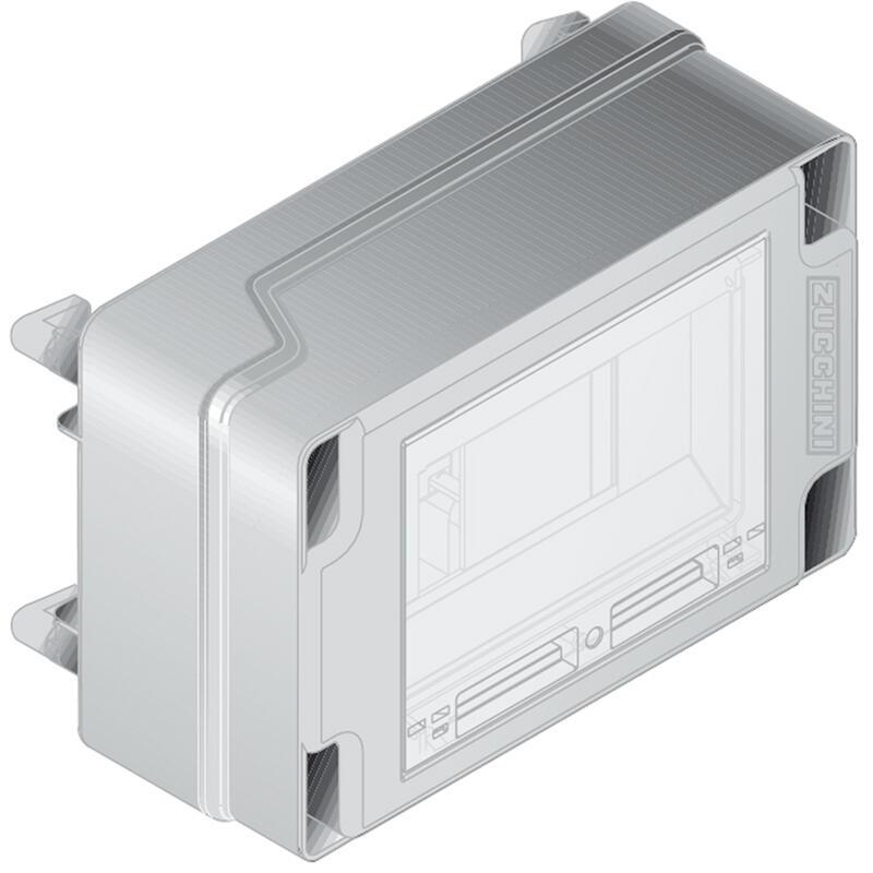 Boîte de dérivation 32A pour mini canalisation MS - vide avec rail 8 modules version longue