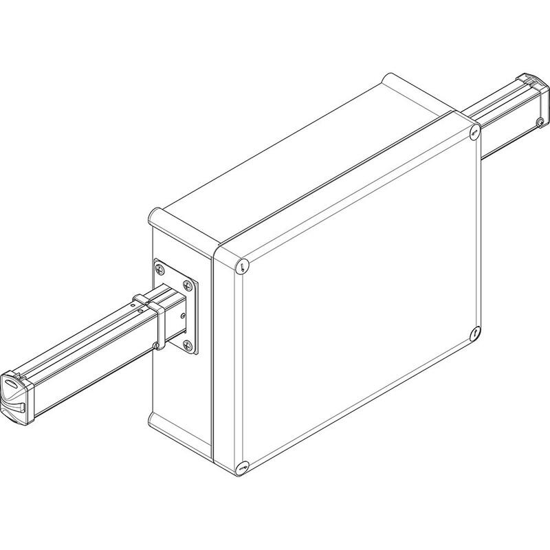 Bloc d'alimentation intermédiaire + 2 embouts pour canalisation d'éclairage LBplus - 6/8 conducteurs - 40A