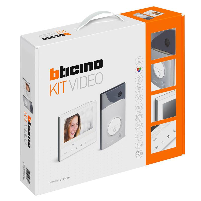 Kit portier résidentiel vidéo couleur mains-libres Classe 300 Basique Blanc - 1 appel
