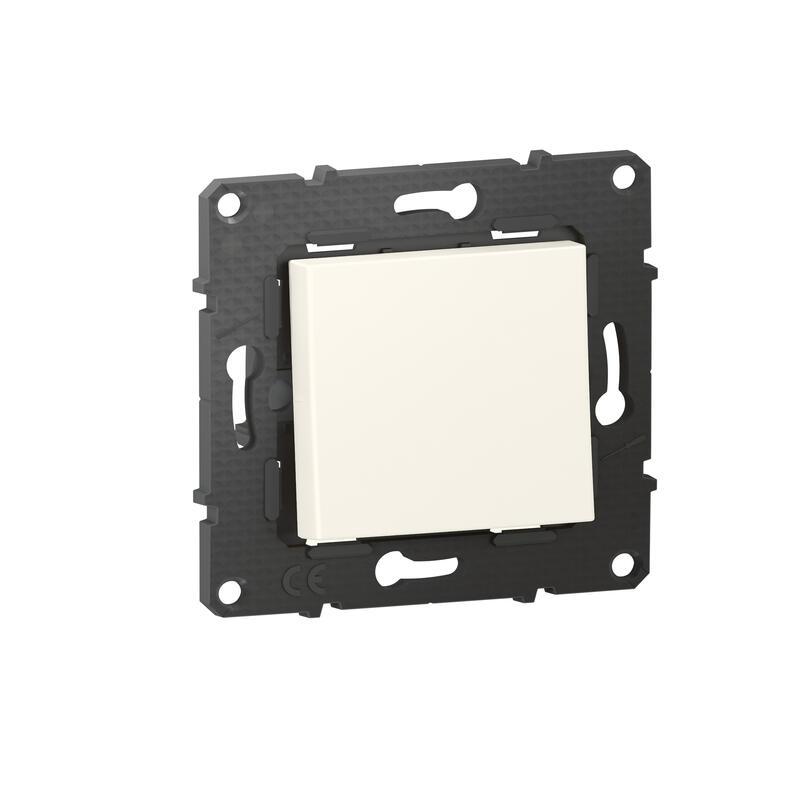 Interrupteur ou va-et-vient Altège 10A avec connexion à bornes automatiques - finition Neige