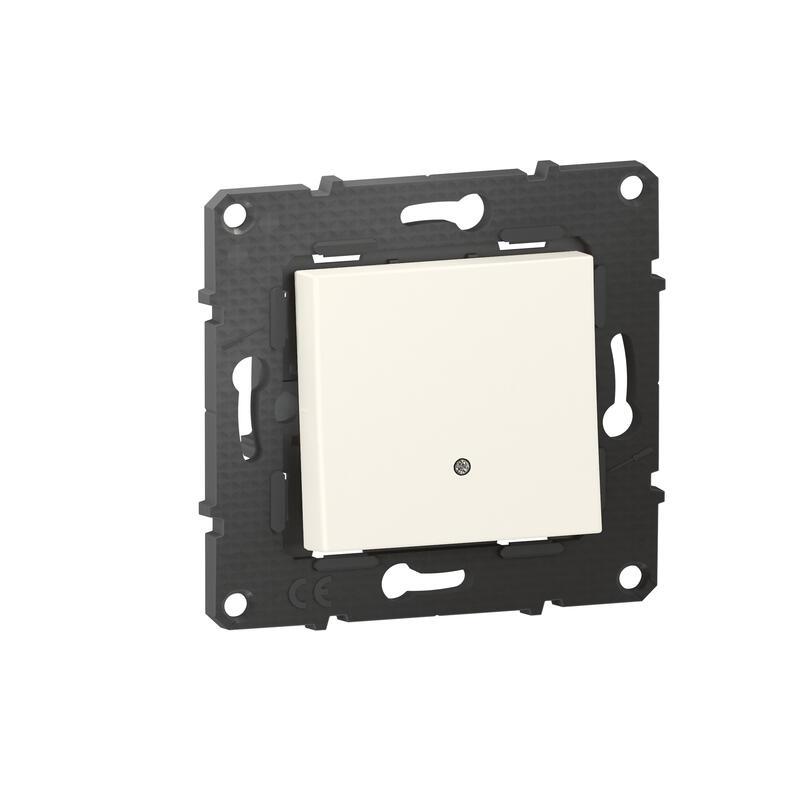 Interrupteur ou va-et-vient lumineux Altège 10A avec connexion à bornes automatiques - finition Neige