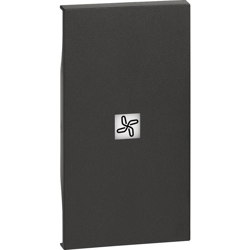 Enjoliveur Living Now avec marquage ventilateur 2 modules - noir mat