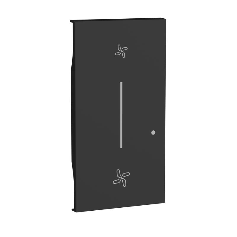 Enjoliveur Living Now with Netatmo pour commande sans fil pour VMC 2 modules - noir mat