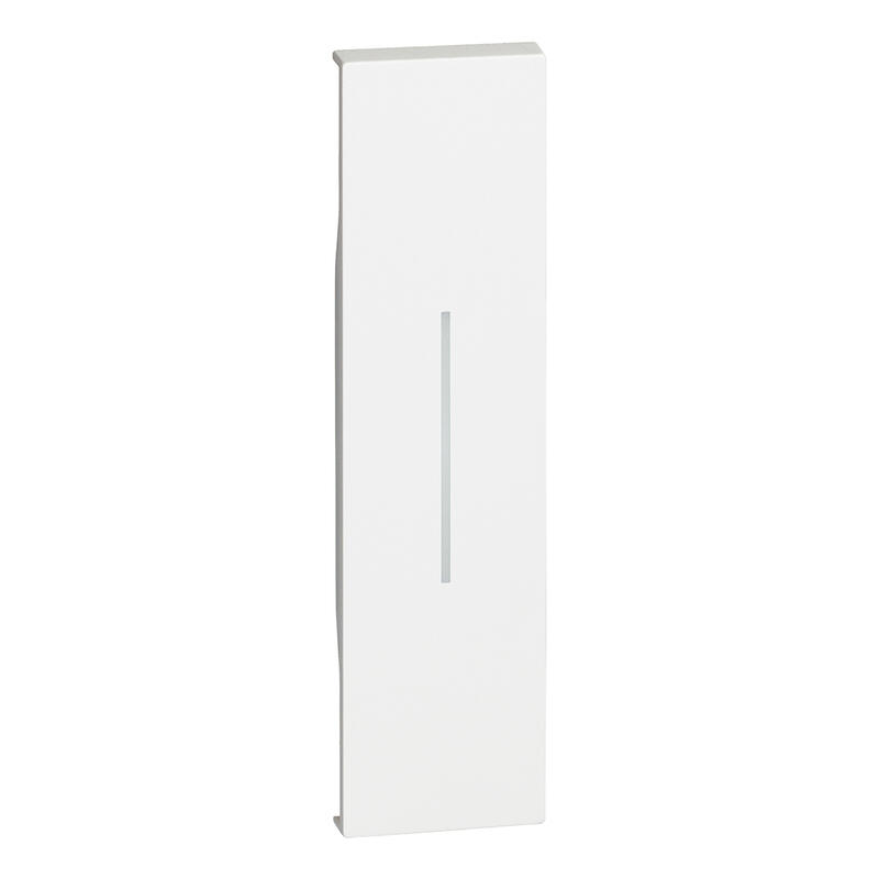 Enjoliveur Living Now pour commande d'éclairage standard ou lumineuse 1 module - blanc