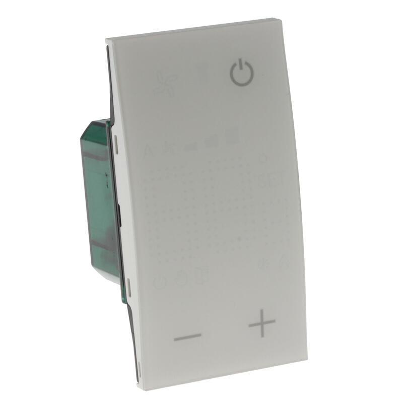 Thermostat Living Now avec afficheur pour contrôle sur 1 zone MyHOME_Up 2 modules - blanc