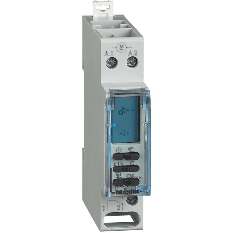 Horloge de programmation avec électronique digitale - 1 module DIN