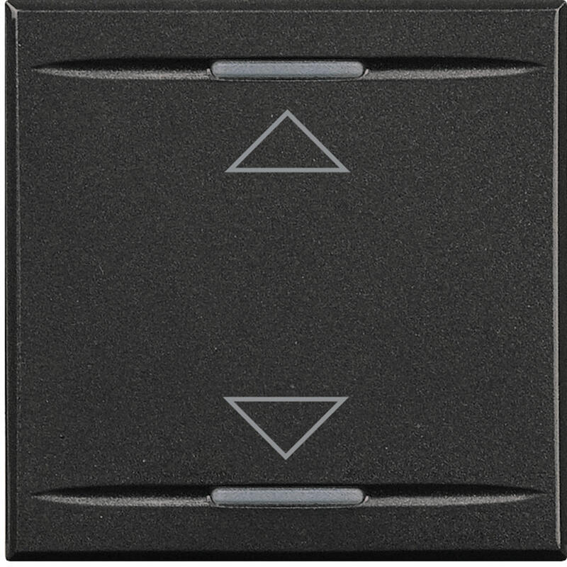 Manette MyHOME BUS Axolute symbole montée et descente 2 modules - anthracite