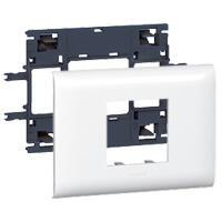 Support Mosaic 2 modules pour goulotte DLP monobloc avec couvercle 85mm