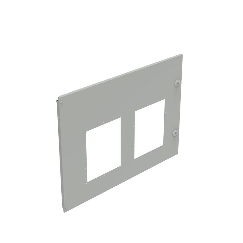 Plastron métal pour 2 DMX³1600 ou DMX³-I1600 fixes côte à côte dans XL³4000 - 36 modules