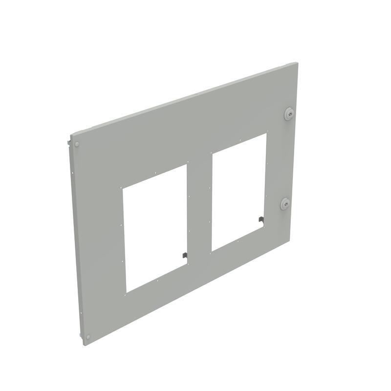 Plastron métal pour 2 DMX³1600 ou DMX³-I1600 débrochables côte à côte dans XL³4000 - 36 modules