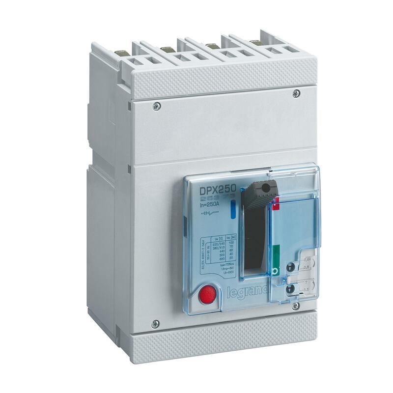 Disjoncteur électronique DPX250 pouvoir de coupure 70kA 400V~ - 3P - 250A