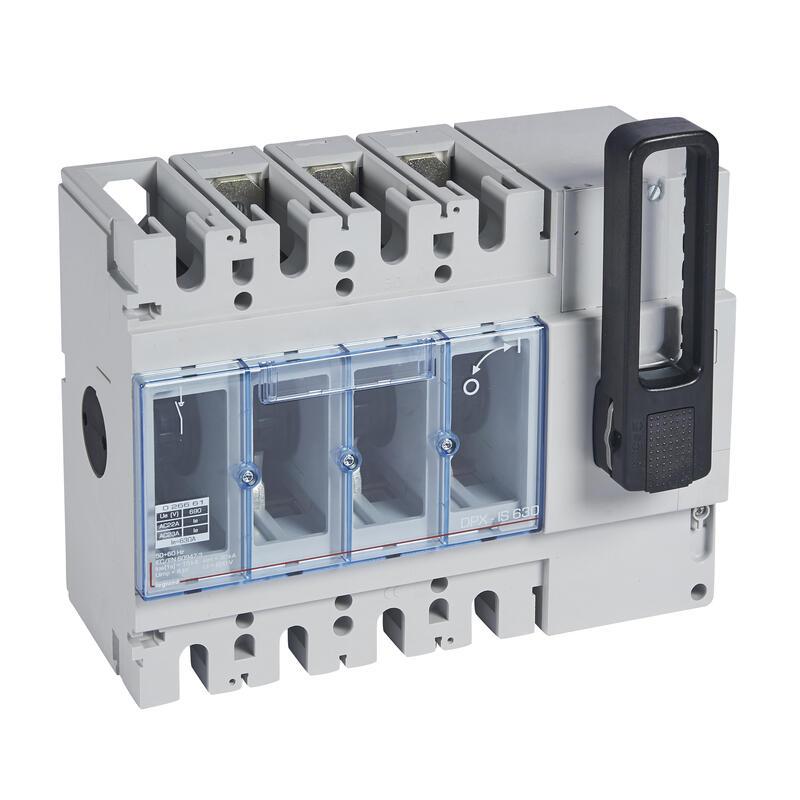 Interrupteur-sectionneur DPX-IS630 sans déclenchement avec commande frontale - 3P - 630A