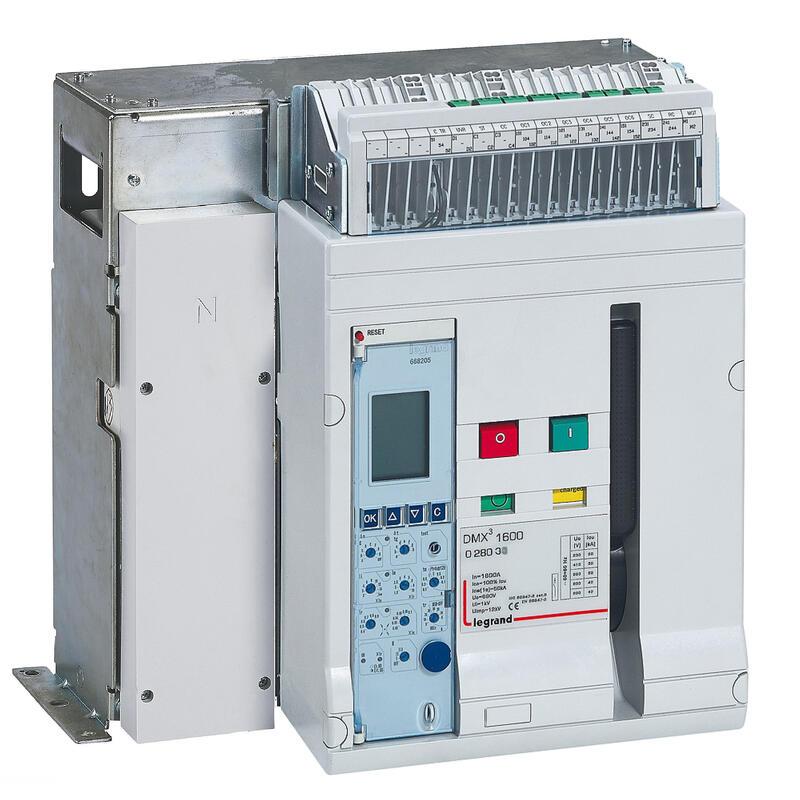 Disjoncteur ouvert fixe DMX³1600 pouvoir de coupure 42kA 415V~ - 4P - 1000A