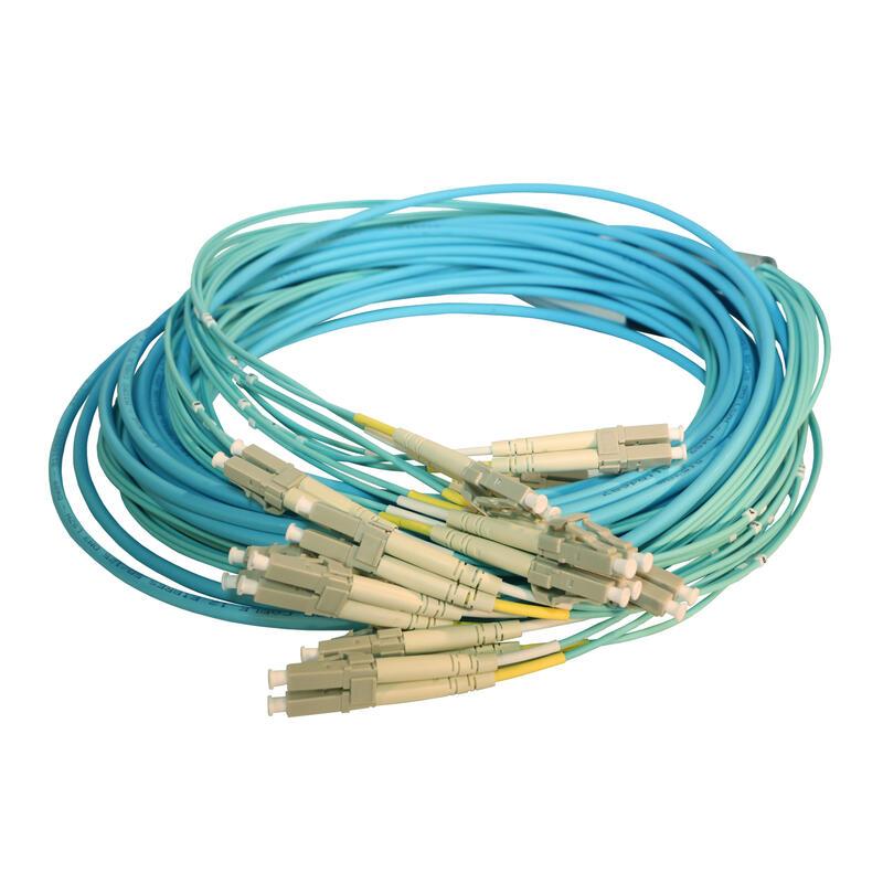Microcâble OM3 Fan-out et Fan-out LCS³ - 6 LC Duplex et 6 LC Duplex - longueur 20m