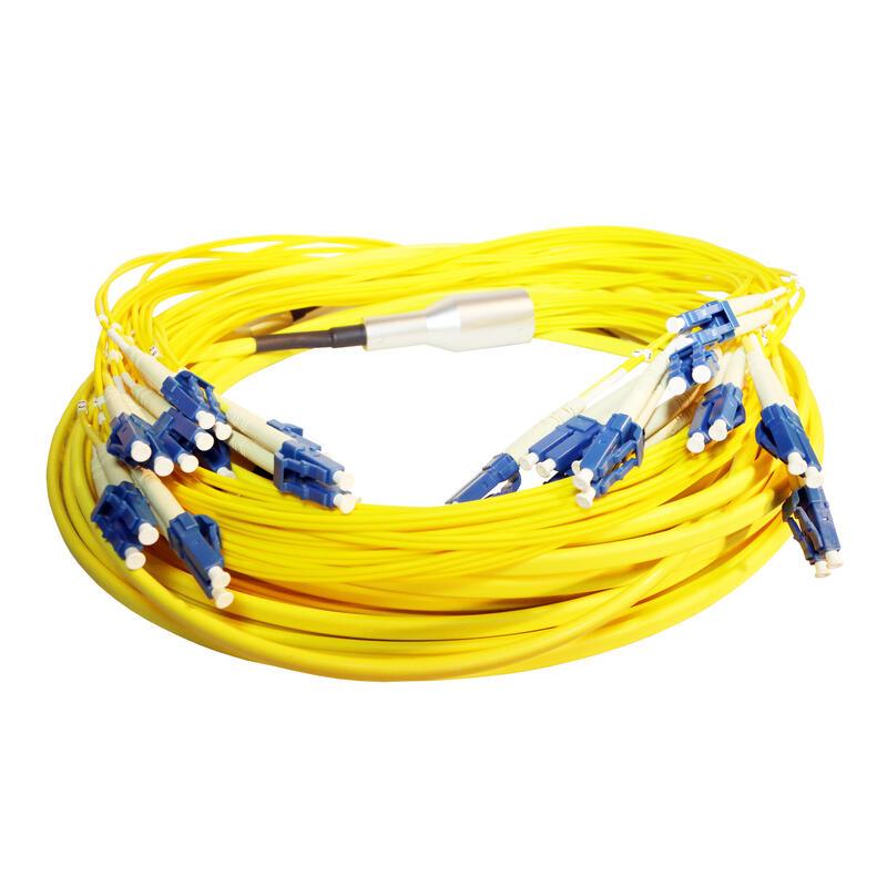Microcâble OS2 Fan-out et Fan-out LCS³ - 12 LC Duplex et 12 LC Duplex - longueur 20m