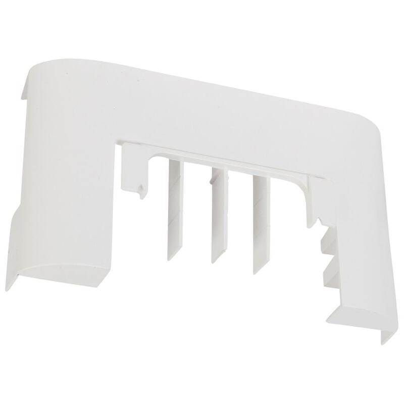 Dérivation vers passage de sol pour moulure DLPlus 60x20mm ou 75x20mm - blanc