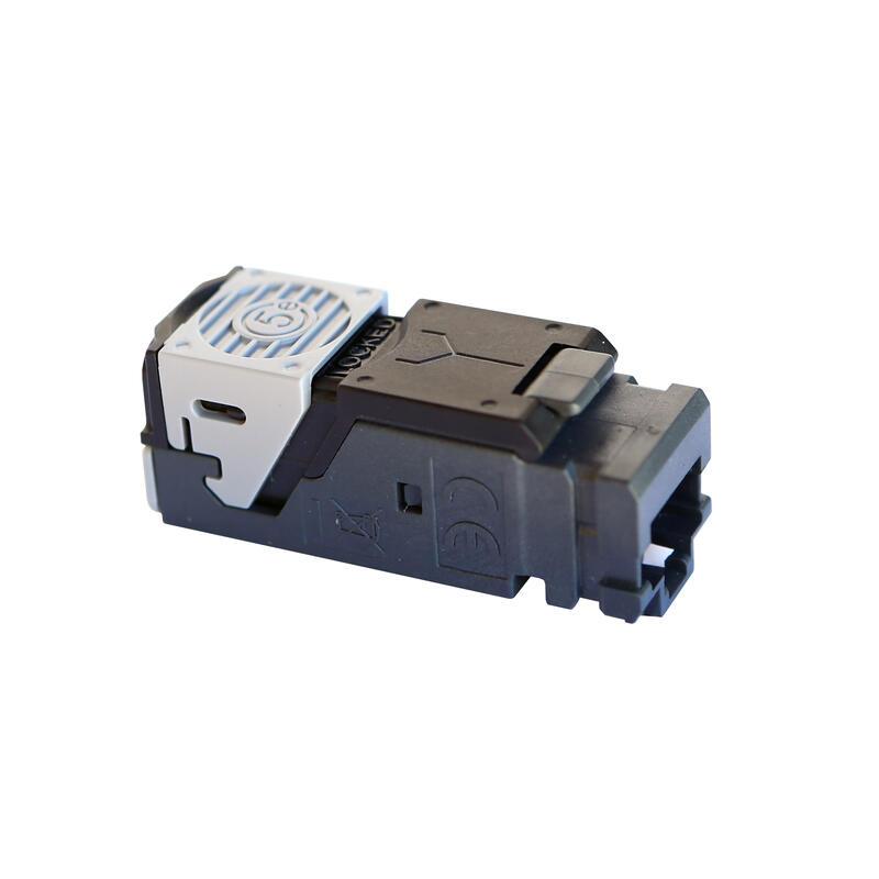 Lot de 6 connecteurs RJ45 haute densité catégorie5e UTP LCS³ pour panneau de brassage droit et en angle