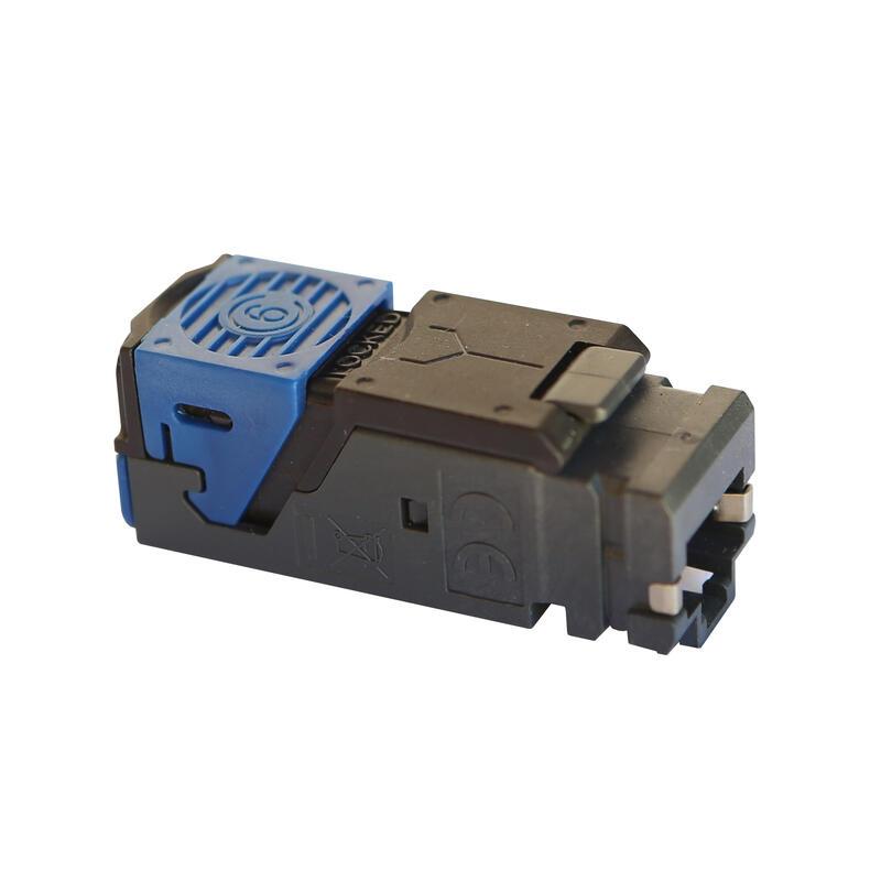 Lot de 6 connecteurs RJ45 haute densité catégorie6 FTP LCS³ pour panneau de brassage droit et en angle