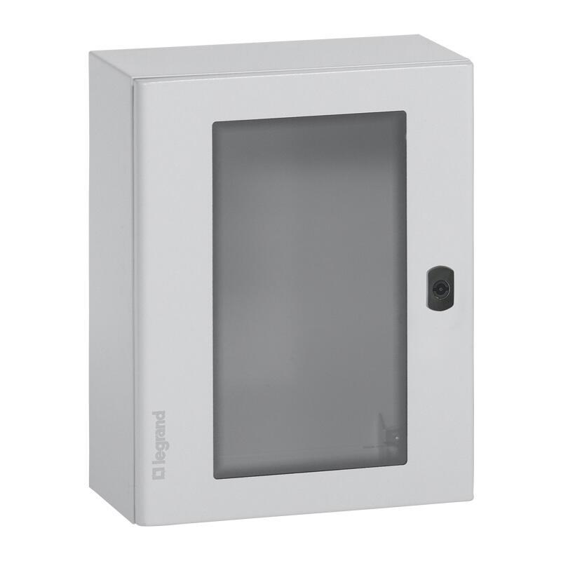Coffret métal avec porte vitrée Atlantic métal IP66 IK10 - 500x400x200mm - RAL7035