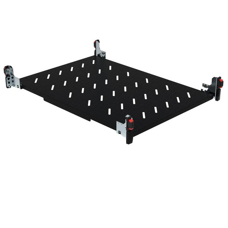 Tablette fixe pour fixation sur 4 montants 19pouces - hauteur 1U - profondeur 425mm pour armoire profondeur 600mm