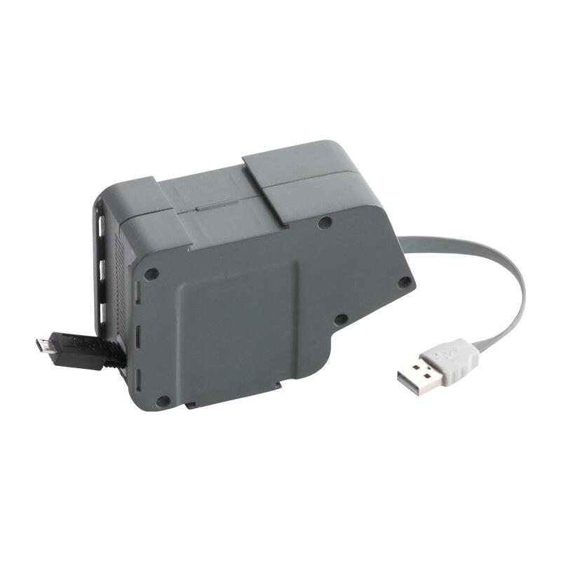 Module USB et micro-USB rétractable pour installation sous le bureau