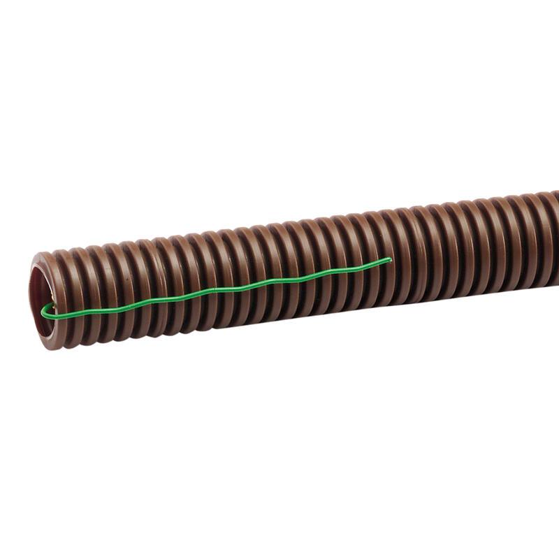 Conduit ICTA TurboGliss® Ø20mm pour courant fort avec tire-fils et marquage métrique - RAL8014