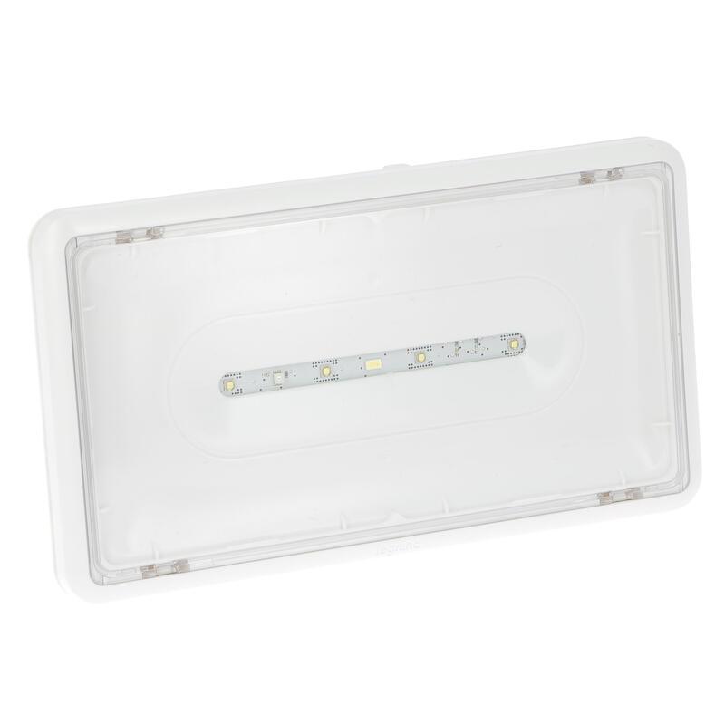 BAES d'ambiance saillie à LEDs 400lm IP43 IK07 plastique SATI Connecté visibilité augmentée pour ERP et ERT
