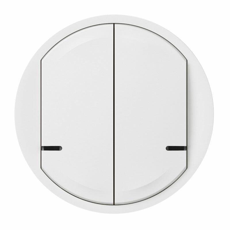 Enjoliveur de remplacement Céliane with Netatmo pour interrupteur filaire double connecté ou commande double - blanc