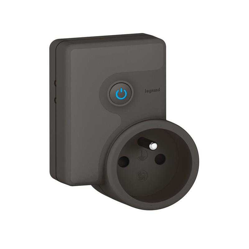 Prise mobile connectée Céliane with Netatmo 16A 3680W avec mesure puissance et suivi consommation - graphite