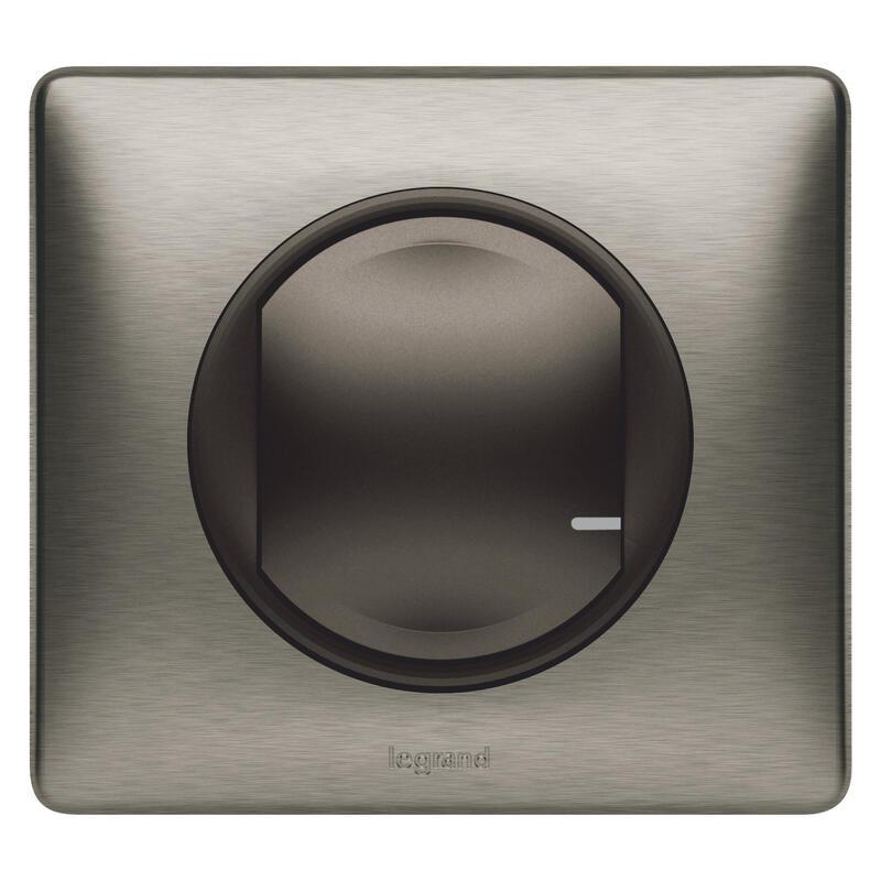 Interrupteur sans fil supplémentaire pour installation connectée Céliane with Netatmo avec plaque Métal Tungstène