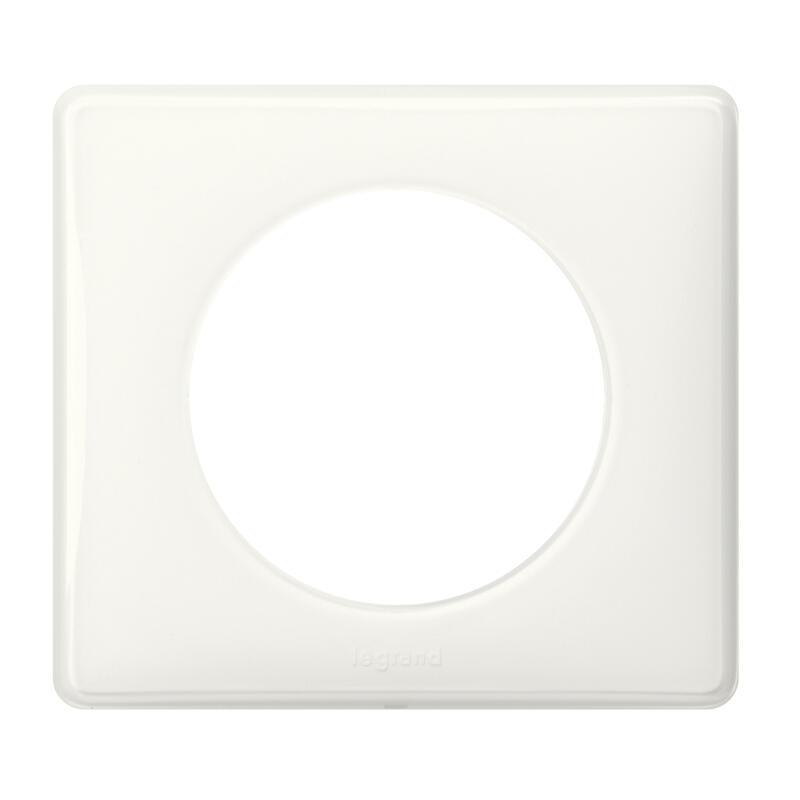 Plaque Céliane Laqué 1 poste - finition Blanc