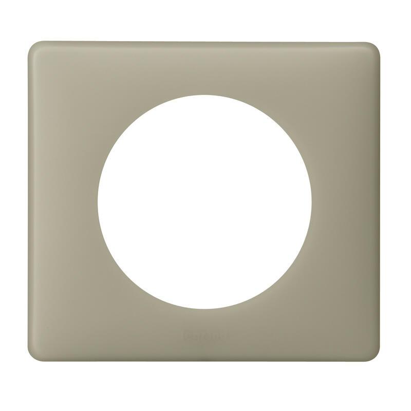 Plaque Céliane Poudré 1 poste - finition Argile