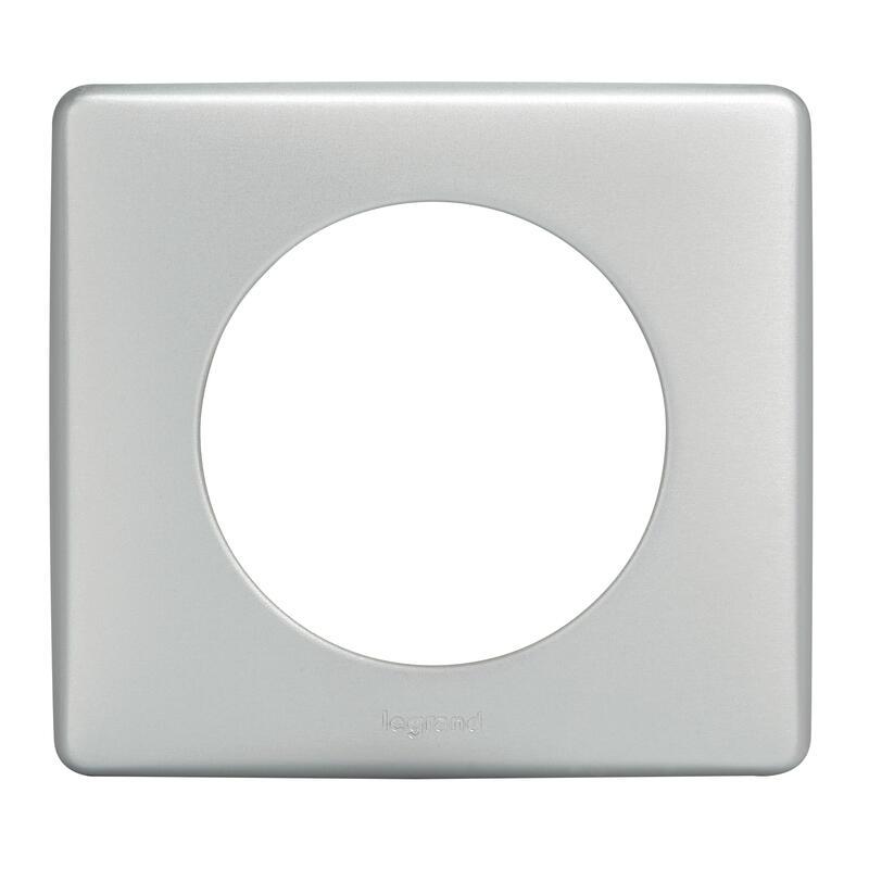 Enjoliveur large Céliane pour interrupteur , va-et-vient ou poussoir Soft - Blanc