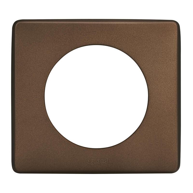Enjoliveur large Céliane pour interrupteur , va-et-vient ou poussoir lumineux - finition graphite