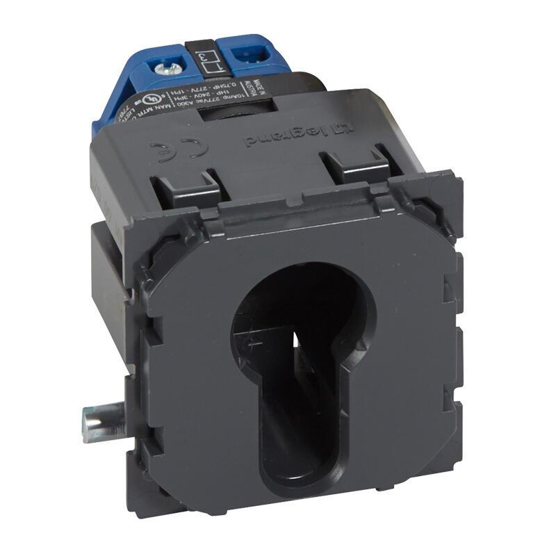 Interrupteur à clé 2 positions Céliane 2NO 10A 230V