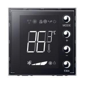 Ecran 1,6pouces de contrôle de thermorégulation BUS KNX Mosaic avec 4 boutons-poussoirs et une sonde de température