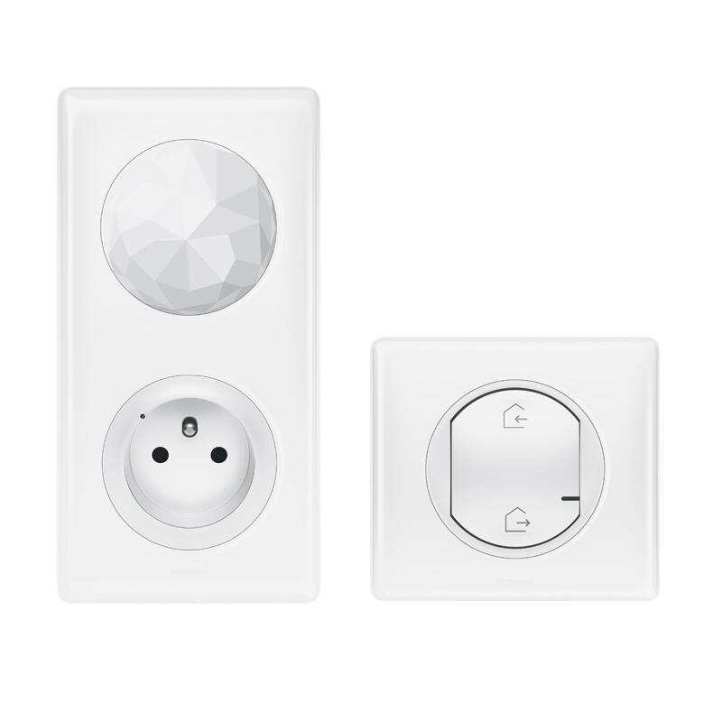 Pack de démarrage installation connectée Céliane with Netatmo 1 prise Control + 1 commande Départ/Arrivée - blanc