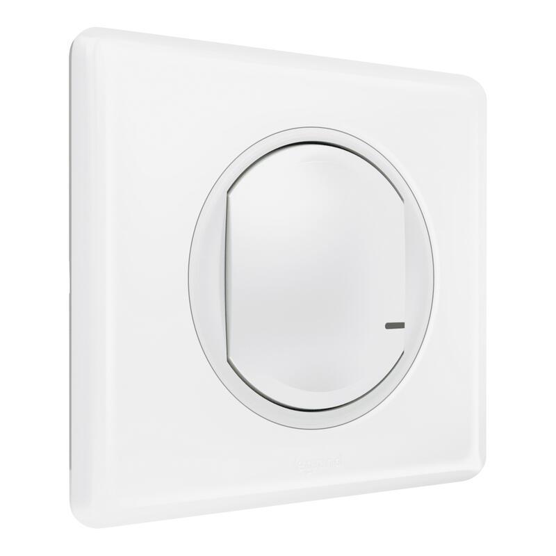 Interrupteur sans fil supplémentaire pour installation connectée Céliane with Netatmo avec plaque Laqué Blanc