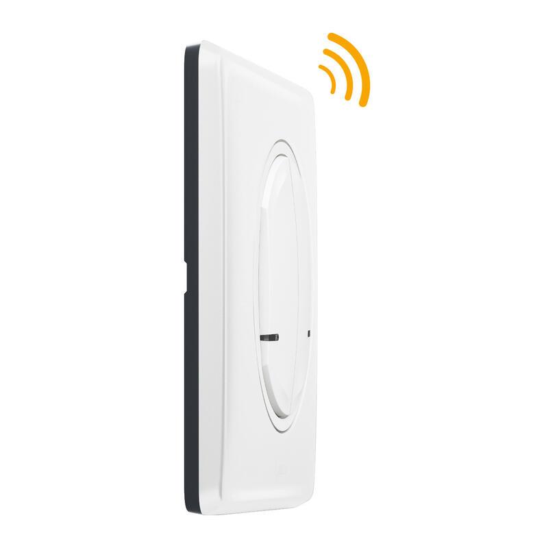 Interrupteur double sans fil pour installation connectée Céliane with Netatmo avec plaque Laqué Blanc