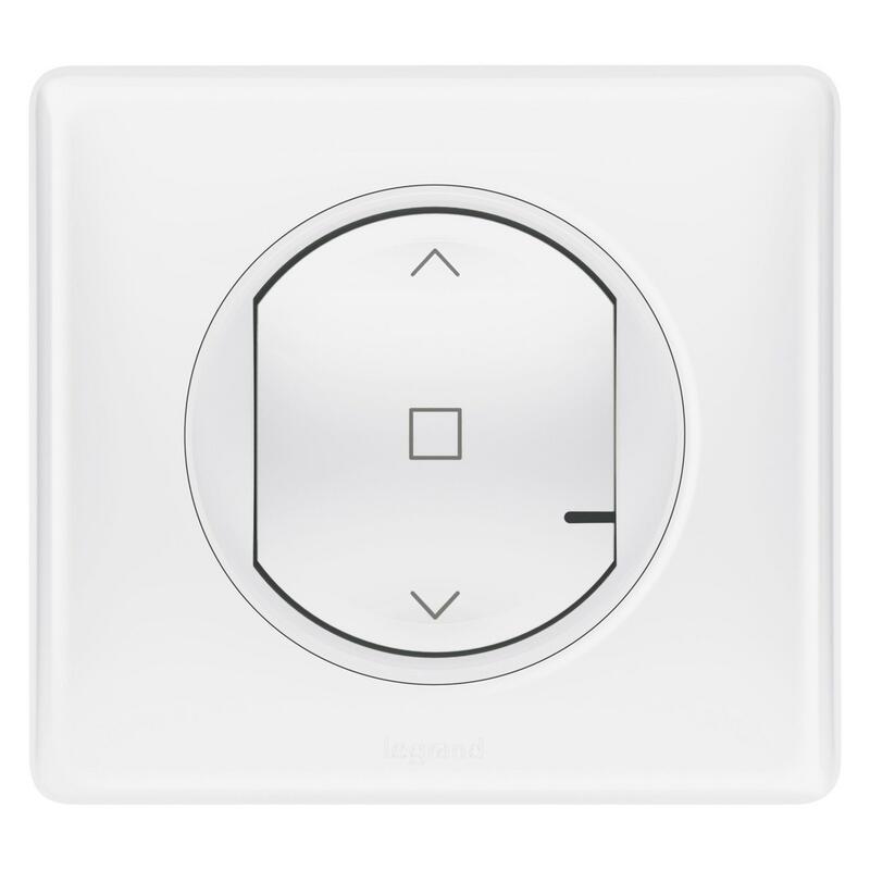 Interrupteur filaire connecté Céliane with Netatmo pour volet roulant - blanc
